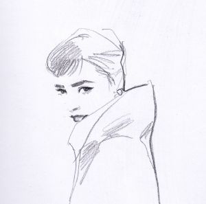 Audrey Hepburn by Michelle PAM.