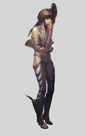 little ninja girl by SU illustration