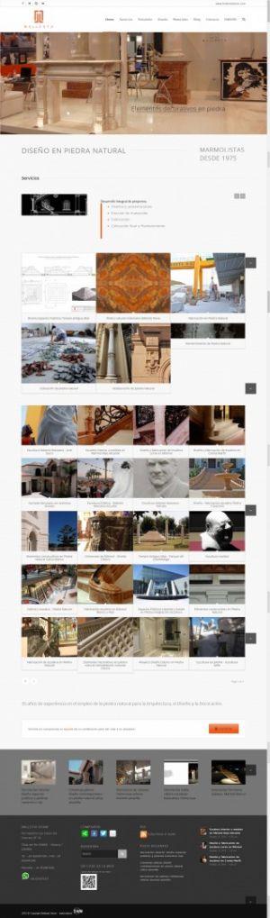 Web design Ballesta Stone-Homepage by Servicios Web Media-Spain