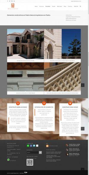 Web Design-Ballesta Stone-Portfolio page by Servicios Web Media-Spain