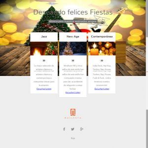 Emailing campaign-interactive streaming musical card by Servicios Web Media-Spain