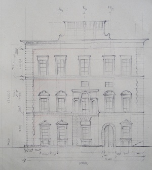 Sketch of the Palazzo Grifoni by VLASTA CERNOCHOVA