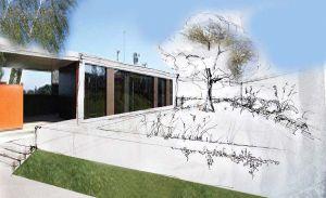 Sketch of the family garden proposal by VLASTA CERNOCHOVA