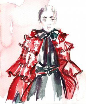 RedDress by watercolorheart