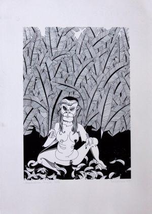 SELFPORTRAIT AS A MONKEY by Alexandra Vinck
