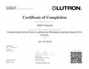Incorporating Human Centric Lighting into Workspace by Rabih Yaacoub Portfolio
