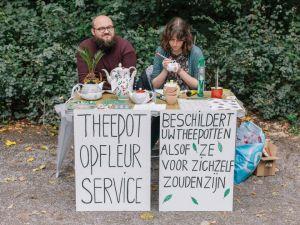 Theepot-Opfleur-Service by Stephanie Gerdon
