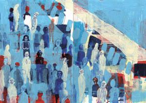 De man op de trein (die een vrouw bleek te zijn) (2011) by Stephanie Gerdon