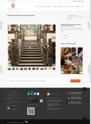 Web design-Ballesta Stone.com by Servicios Web Media-Spain