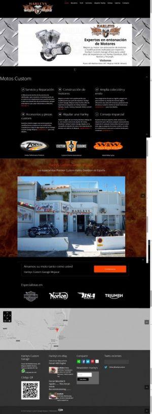 Web Design recent works-Harley davidson Custom Choppers by Servicios Web Media-Spain