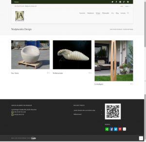 Web design recent works-Javier Alvarez bildhauer by Servicios Web Media-Spain